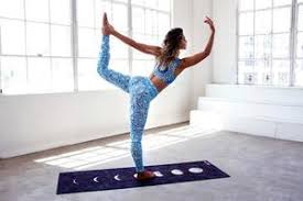 hot yoga on mat