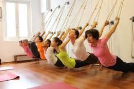 students practicing Lyengar yoga
